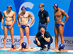 France time out during game between Montenegro against France LEN European Water Polo Championships, Barcelona 16.07.2018
