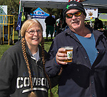 Christine and Paul during the inaugural Bud and Brew Music Festival in Wingfield Park in downtown Reno on Saturday, Sept. 23, 2017.