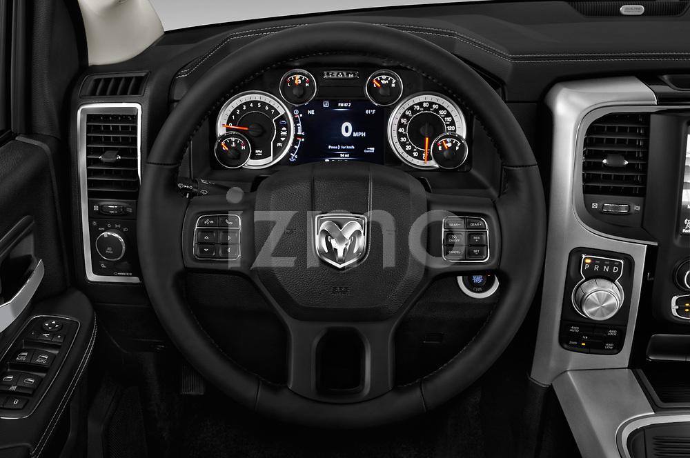 Car pictures of steering wheel view of a 2017 Ram 1500 Night Crew 4 Door Pick Up