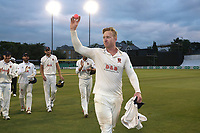 Simon Harmer of Essex raises the ball to the crowd having claimed 14 wickets in the match during Essex CCC vs Middlesex CCC, Specsavers County Championship Division 1 Cricket at The Cloudfm County Ground on 29th June 2017