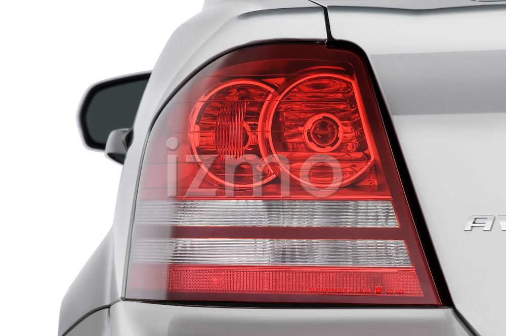 Tail light close up detail view of a 2008 Dodge Avenger RT