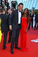 Vincent Cerutti et sa compagne Hapsatou Sy, sur le tapis rouge pour la projection du film D APRES UNE HISTOIRE VRAIE, hors competition lors du soixante-dixième (70ème) Festival du Film à Cannes, Palais des Festivals et des Congres, Cannes, Sud de la France, samedi 27 mai 2017.