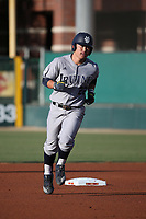 Keston Hiura (22) of the UC Irvine Anteaters runs the bases during a game against the Southern California Trojans at Dedeaux Field on April 18, 2017 in Los Angeles, California. UC Irvine defeated Southern California, 14-3. (Larry Goren/Four Seam Images)