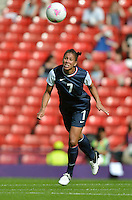 Glasgow, Scotland - July 25, 2012: Shannon Boxx of the US women's national soccer team during USA's match against France.