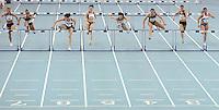 Deutsche Hallenmeisterschaft 2011 Leichtathletik - Arena Leipzig - im Bild: 60m Hürden Finale - v.l. Maike Pietsch (LAC Berlin), Susi Lutz (LG Telis Finanz Regensburg), Carolin Nytra (MTG Mannheim, 1. Platz), Jennifer Reinelt (1. FC Passau), Nadine Hildebrand (LAZ Salamander Kornwestheim-LB, 3.Platz), Cindy Roleder (LAZ Leipzig, 2.Platz) ,Miriam Hehl (LAZ Salamander Kornwestheim-LB) und Pamela Dutkiewicz (TV Wattenscheid).  Foto: Norman Rembarz..Jegliche kommerzielle Nutzung ist honorar- und mehrwertsteuerpflichtig! Persönlichkeitsrechte sind zu wahren. Es wird keine Haftung übernommen bei Verletzung von Rechten Dritter. Autoren-Nennung gem. §13 UrhGes. wird verlangt. Weitergabe an Dritte nur nach  vorheriger Absprache..