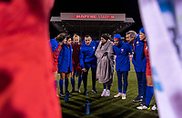 COLUMBUS, OH - NOVEMBER 07: Vlatko Andonovski of the United States talks to his team during a game between Sweden and USWNT at Mapfre Stadium on November 07, 2019 in Columbus, Ohio.