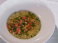 Gerstensuppe, Törggelen bei Gasthaus Gstör, Algund bei Meran, Region Südtirol-Bozen, Italien, Europa<br /> barley broth at wine tasting Törggelen, Restaurant Gstör, Lagundo near Merano, Region South Tyrol-Bolzano, Italy, Europe