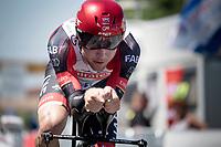 Marc Hirschi (SUI/UAE-Emirates)<br /> <br /> Stage 20 (ITT) from Libourne to Saint-Émilion (30.8km)<br /> 108th Tour de France 2021 (2.UWT)<br /> <br /> ©kramon