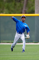 Toronto Blue Jays Reggie Pruitt (4) during practice before a minor league Spring Training game against the Pittsburgh Pirates on March 24, 2016 at Pirate City in Bradenton, Florida.  (Mike Janes/Four Seam Images)