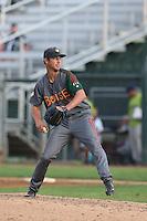Trevor Clifton #22 of the Boise Hawks pitches against the Everett AquaSox at Everett Memorial Stadium on July 22, 2014 in Everett, Washington. Everett defeated Boise, 6-0. (Larry Goren/Four Seam Images)