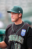 Kane County Cougars Jason Adam #19 during a game against the South Bend Silver Hawks at Coveleski Stadium on July 24, 2011 in South Bend, Indiana.  Kane County defeated South Bend 7-5.  (Mike Janes/Four Seam Images)