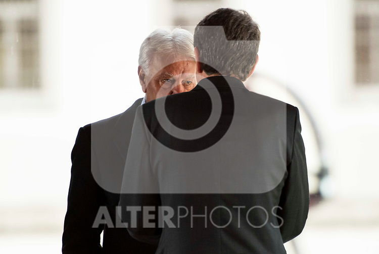 Felipe Gonzalez and Jose Luis Rodriguez Zapatero attends to the act of imposition of the great cross of the civil order of Alfonso X el Sabio to D. Francisco Luzon Lopez at Reina Sofia Museum in Madrid. March 13, 2017. (ALTERPHOTOS/Borja B.Hojas)