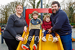 The O'Donoghue family enjoying the playground in the Killarney National park on Friday, l to r: Fiona, Dermot, Cassie and John O'Donoghue.