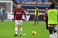 Declan Rice of West Ham Unitedwarms up during West Ham United vs Aston Villa, Premier League Football at The London Stadium on 30th November 2020
