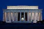 Lincoln Memorial before sunrise