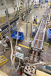 Extruded decking processing line