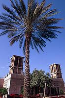 Vereinigte arabische Emirate (VAE, UAE), Dubai, Restaurant Kan Zaman, Windturm