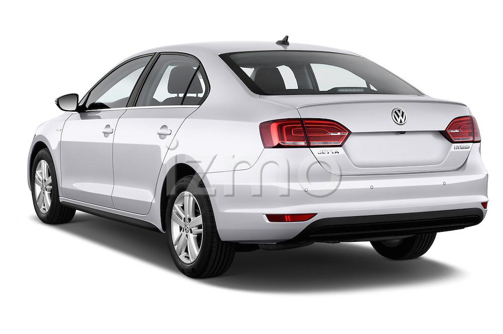Rear three quarter view of a 2013 Volkswagen Jetta Comfortline Hybrid Sedan2013 Volkswagen Jetta Comfortline Hybrid Sedan