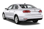 Rear three quarter view of a 2013 Volkswagen Jetta Comfortline Hybrid Sedan2013 Volkswagen Jetta Comfortline Hybrid Sedan