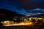 Gamprin-Bendern, Liechtenstein at dusk.<br /> <br /> Foto: Paul J. Trummer