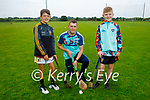 Taking instructions from their coach at the Abbeydorney GAA Cúl Camps on Monday, l to r: Aaron Donovan, Ruairí O'Sullivan (Coach) and Paddy Hennessy.