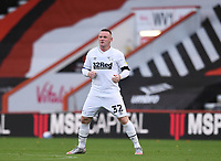 31st October 2020; Vitality Stadium, Bournemouth, Dorset, England; English Football League Championship Football, Bournemouth Athletic versus Derby County; Wayne Rooney of Derby County