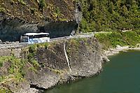 A road between Reefton and Westport along the Buller River. New Zealand