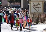 Members of the Carson Valley Chinese Cultural Dance Group lead a parade during the Chinese New Year Celebration at the Nevada State Museum in Carson City, Nev., on Saturday, Feb. 16, 2018. <br /> Photo by Cathleen Allison/Nevada Momentum