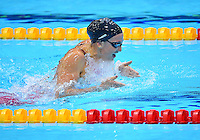 August 01, 2012..Rebecca Soni competes in Women's 200m Breaststroke Semifinal at the Aquatics Center on day five of 2012 Olympic Games in London, United Kingdom.