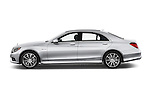 Car Driver side profile view of a 2014 Mercedes Benz S-Class S63 AMG 4 Door Sedan Side View