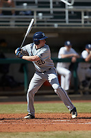 Blaine Griffiths (20) of the Xavier Musketeers at bat against the Penn State Nittany Lions at Coleman Field at the USA Baseball National Training Center on February 25, 2017 in Cary, North Carolina. The Musketeers defeated the Nittany Lions 10-4 in game one of a double header. (Brian Westerholt/Four Seam Images)