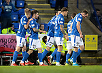 St Johnstone v Aberdeen…..24.11.19   McDiarmid Park   SPFL<br />Matty Kennedy celebrates his goal<br />Picture by Graeme Hart.<br />Copyright Perthshire Picture Agency<br />Tel: 01738 623350  Mobile: 07990 594431