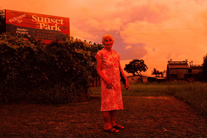 Portrait of Mrs Leporati in Front of the Family's Old Tobacco Farm, Mareeba District, 2005.