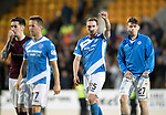 St Johnstone v Hearts 17.05.17     SPFL    McDiarmid Park<br />Match winner Chris Kane gives a thumbs up at full time<br />Picture by Graeme Hart.<br />Copyright Perthshire Picture Agency<br />Tel: 01738 623350  Mobile: 07990 594431