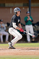 Chase Matheny (25) of the University of South Carolina Upstate Spartans bats in the Green and Black Fall World Series Game 2 on Saturday, October 31, 2020, at Cleveland S. Harley Park in Spartanburg, South Carolina. Green won, 6-5. (Tom Priddy/Four Seam Images)
