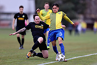 Action from the Southern Football League between Cashmere Technical and Green Island AFC at Garrick Memorial Park in Christchurch, New Zealand on Saturday, 17 July 2021. Photo: Martin Hunter / lintottphoto.co.nz