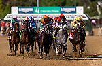 APRIL 30, 2021:  Travel Column leads the field for the Kentucky Oaks at Churchill Downs in Louisville, Kentucky on April 30, 2021. EversEclipse Sportswire/CSM