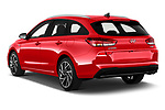 Car pictures of rear three quarter view of 2020 Hyundai i30 Sky-Line 5 Door Wagon Angular Rear