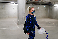 LE HAVRE, FRANCE - APRIL 13: Julie Ertz #8 of the United States arriving at the stadium before a game between France and USWNT at Stade Oceane on April 13, 2021 in Le Havre, France.