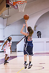 Arlington Baptist guard Britney Breedlove  in action during the game between Andrews University and the  Arlington Baptist Patriots at the SWAU arena in Keene, Texas.