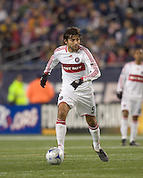 Chicago Fire midfielder Baggio Husidic (9) looks to pass. The New England Revolution tied the Chicago Fire, 0-0, at Gillette Stadium on October 17, 2009.