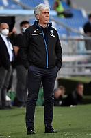 Gian Piero Gasperini of Atalanta BC reacts during the Serie A football match between US Sassuolo and Atalanta BC at Citta del Tricolore stadium in Reggio Emilia (Italy), May 2nd 2021. Photo Andrea Staccioli / Insidefoto