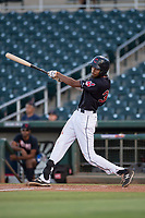 AZL Indians 1 first baseman Michael Cooper (39) at bat during an Arizona League game against the AZL White Sox at Goodyear Ballpark on June 20, 2018 in Goodyear, Arizona. AZL Indians 1 defeated AZL White Sox 8-7. (Zachary Lucy/Four Seam Images)