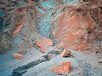 Colorful rocks on Artists Drive. Death Valley National Park, California.