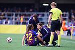 UEFA Women's Champions League 2018/2019.<br /> Semi Finals<br /> FC Barcelona vs FC Bayern Munchen: 1-0.<br /> Lieke Martens.