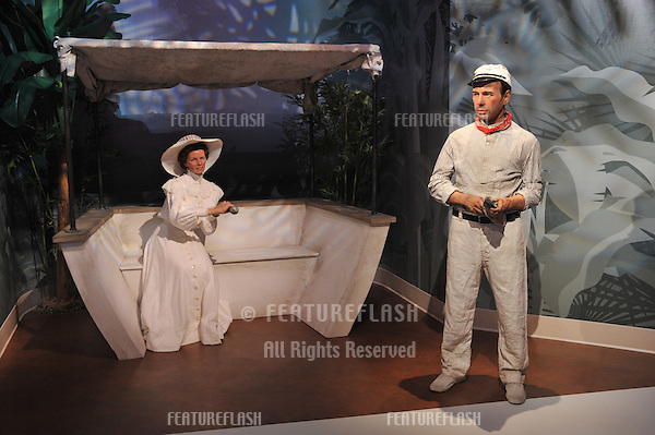 Katherine Hepburn & Humphrey Bogart waxwork figure - grand opening of Madame Tussauds Hollywood. The new $55 million attraction is the first ever Madame Tussauds in the world to be built from the ground up. It is located on Hollywood Boulevard immediately next to the world-famous Grauman's Chinese Theatre..July 21, 2009  Los Angeles, CA.Picture: Paul Smith / Featureflash