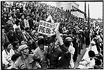 At a mass rally organized by rebels in Provincial People's Stadium, Vice-Governor Chen Dejing is paraded through the crowd. Harbin, Heilongjiang Province, 29 August 1966