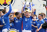 St Johnstone v Hibs…22.05.21  Scottish Cup Final Hampden Park<br />Liam Gordon lifts the Scottish Cup after defeating Hibs 1-0<br />Picture by Graeme Hart.<br />Copyright Perthshire Picture Agency<br />Tel: 01738 623350  Mobile: 07990 594431