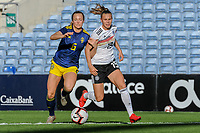 20200304 Faro , Portugal : Swedish Magdalena Eriksson (6) and German midfielder Klara Buhl (19) pictured during the female football game between the national teams of Germany and Sweden on the first matchday of the Algarve Cup 2020 , a prestigious friendly womensoccer tournament in Portugal , on wednesday 4 th March 2020 in Faro , Portugal . PHOTO SPORTPIX.BE | STIJN AUDOOREN