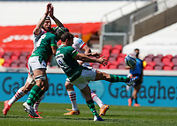 24th April 2021; Brentford Community Stadium, London, England; Gallagher Premiership Rugby, London Irish versus Harlequins; Nick Phipps of London Irish kicks the ball for field position